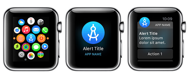 With the new template you can see your icon in various Apple Watch contexts