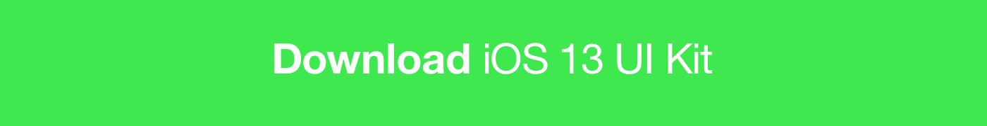 Download iOS 13 UI Kit